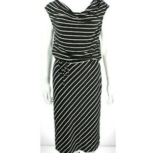 Larry Levine scoop neck stripped dress